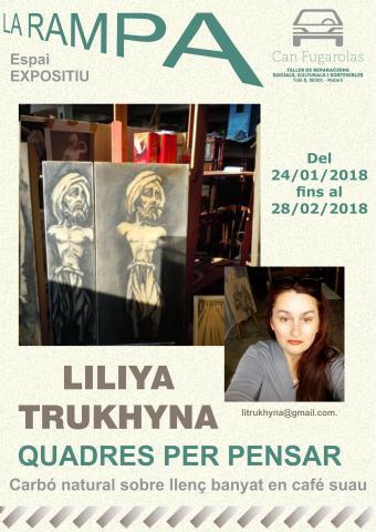 QUADRES PER PENSAR la nova exposició de LA RAMPA càrrec de  LILIYA TRUKHYNA